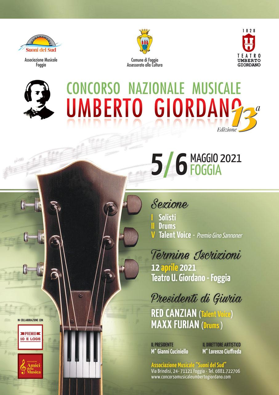 Manifesto Concorso Musicale Umberto Giordano 13a edizione